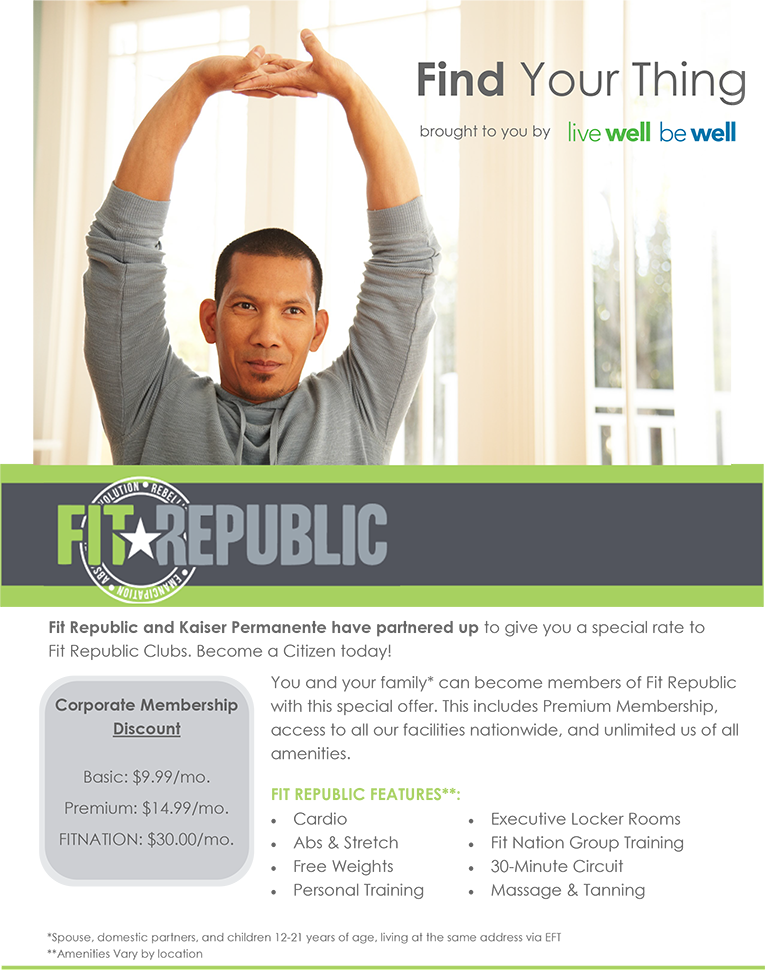 Find Your Thing - Fit Republic Flyer